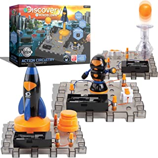 Discovery #MINDBLOWN Action Circuitry Electronic Experiment Complete STEM Set, Build-it-Yourself Engineering Toy Kit, Expl...