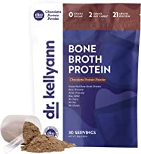 Keto Bone Broth Protein Powder Chocolate - Protein 21g, 2g Net Carbs - Grass Fed Hydrolyzed Collagen - Sugar Free, Gluten ...
