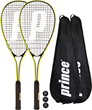 2 x Prince Power Rebel Raqueta de Squash + 3 Balls