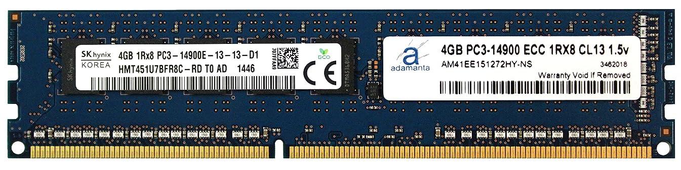 Hynix Original 4GB (1x4GB) Server Memory Upgrade for Servers DDR3 1866Mhz PC3-14900 ECC UDIMM 1Rx8 CL13 1.5v DRAM RAM Adamanta