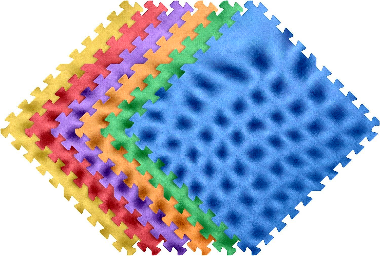 IncStores 1 price 2 Inch Thick Rainbow Las Vegas Mall Playmat Foam V Tiles Flooring