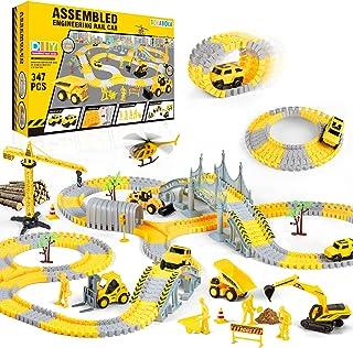 BOKABOKA - Juego de construcción de 347 piezas de trax a presión – STEM Building pistas de carreras y camiones de juguete ...