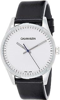 ساعة للرجال من كالفن كلاين طراز K8S211C6، بعرض انالوج وسوار جلدي وحركة الكوارتز- بلون ابيض