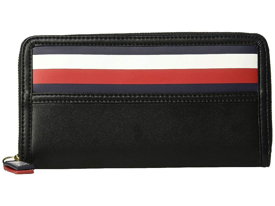 Tommy Hilfiger Gianna Zip Wallet (Black) Wallet Handbags