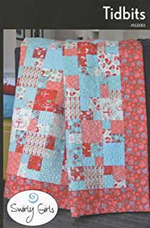 Tidbits Quilt Pattern by Swirly Girls, 3 Size Options, Fat Quarter Friendly