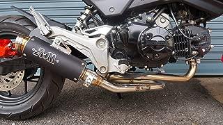 ZoOM Exhaust Honda GROM 125 MSX 2013-2019 125SF Full System LOOP Low Mount Black 2SLZ