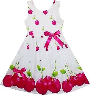 Girls Dress Pink Dot Flower Embroidered Sundress Children Clothes Size 2-6 Years
