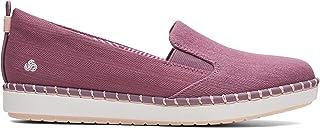 Clarks Step Glow Slip, Women's Women Shoes, Purple (Purple Canvas), 7 UK (41 EU)