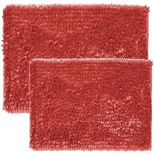 Coral Color Bathroom Rugs.Coral Color Mats For Bathroom Amazon Com