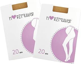 20 DEN Medias Premamá - Medias Mernidad - Medias de embarazo - Beige - 1200 viejo