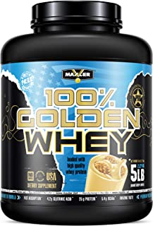 Maxler 100% Golden Whey - Premium 100% Whey Protein Powder, High Protein, Low Fat, Low Carb, Complete Amino Acid Profile -...