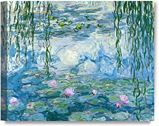 DECORARTS - Water Lilies 1916-1919, Claude Monet Art Reproduction. Giclee Canvas Prints Wall Art for Home Decor 30x24 x1.5