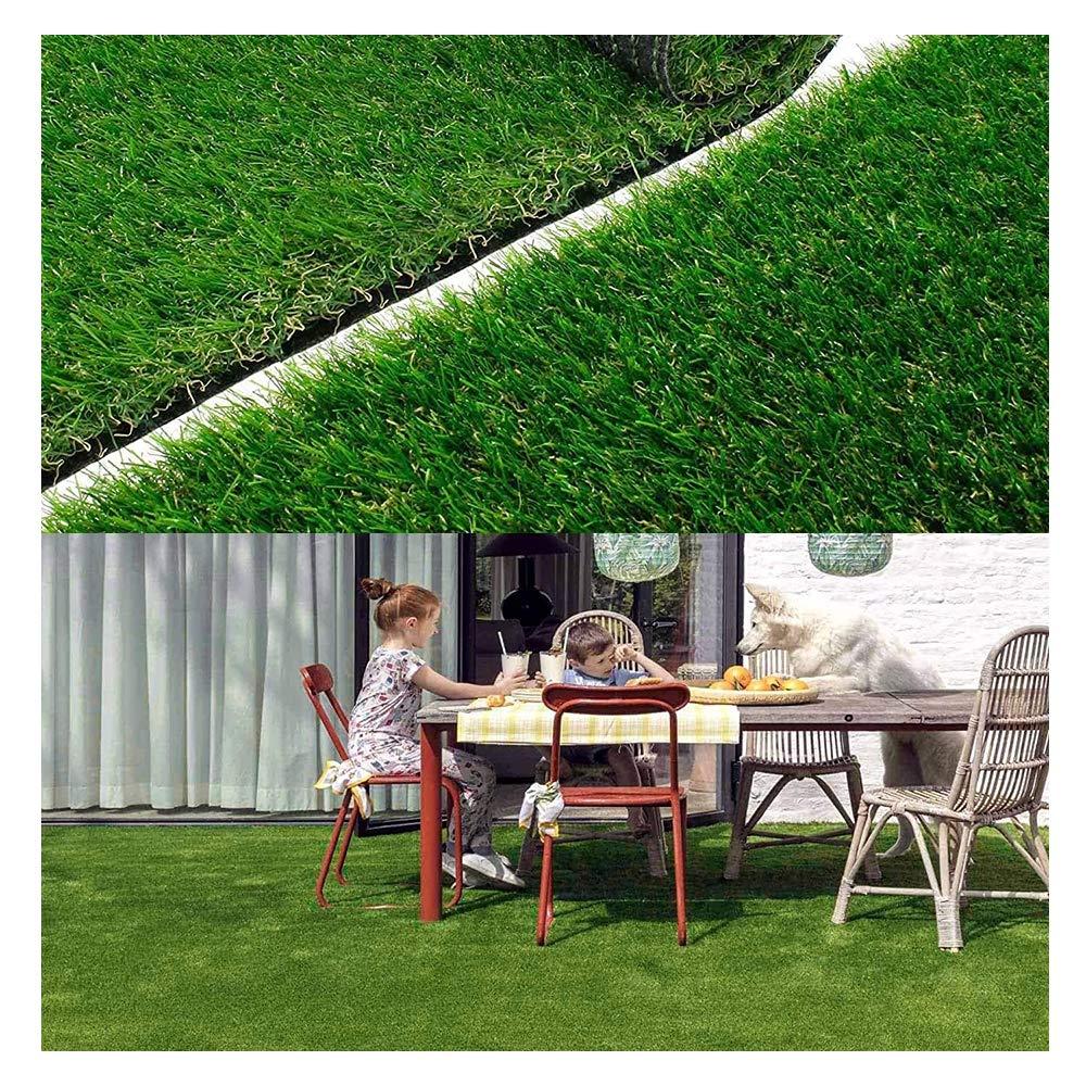 YOGANHJAT Cesped Artificial Premium Césped sintético 20 mm Rollo Césped Estera Hierba Sintética Exterior Interior/Exterior de plástico Verde Casa Jardín Terraza Decoración Patio,0.5x14m/1.6x46: Amazon.es: Deportes y aire libre
