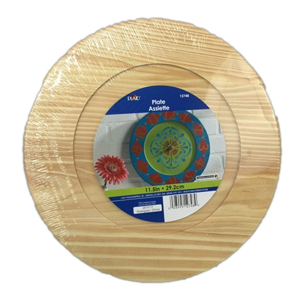 Plaid Unfinish Wood Craft 11.5 Inch Plate for Clock Making