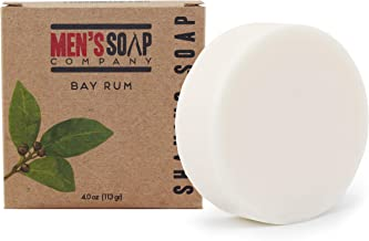 Men's Soap Company Shaving Soap for Men and Women 4.0 oz Refill Puck Made With Natural Vegan Plant Ingredients - Shea Butter & Vitamin E Create Thick Shave Soap Lather for Skin Protection, Bay Rum