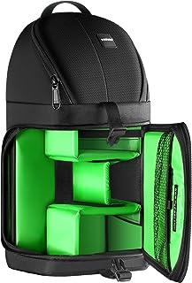 Neewer Professional Mochila Peso 653g la Viene con Bolsillos para Accesorios Protección Contra la Lluvia Compatible con Cámara Nikon Canon Sony y otras Cámaras y Lentes DSLR Trípode(Verde)