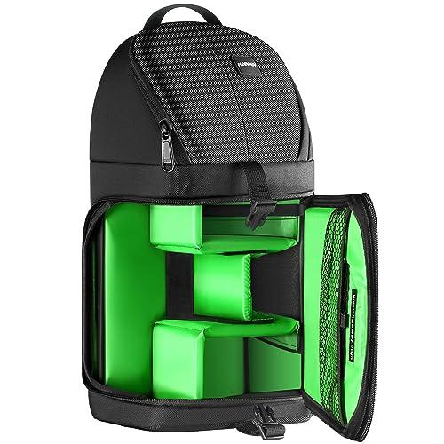 Neewer Zaino di Stoccaggio Professionale a Monospalla per Nikon Canon Sony e Reflex Digitali e Obiettivi/Treppiedi Accessori/Durevole Impermeabile Antistrappo Backpack con Divisori Imbottiti