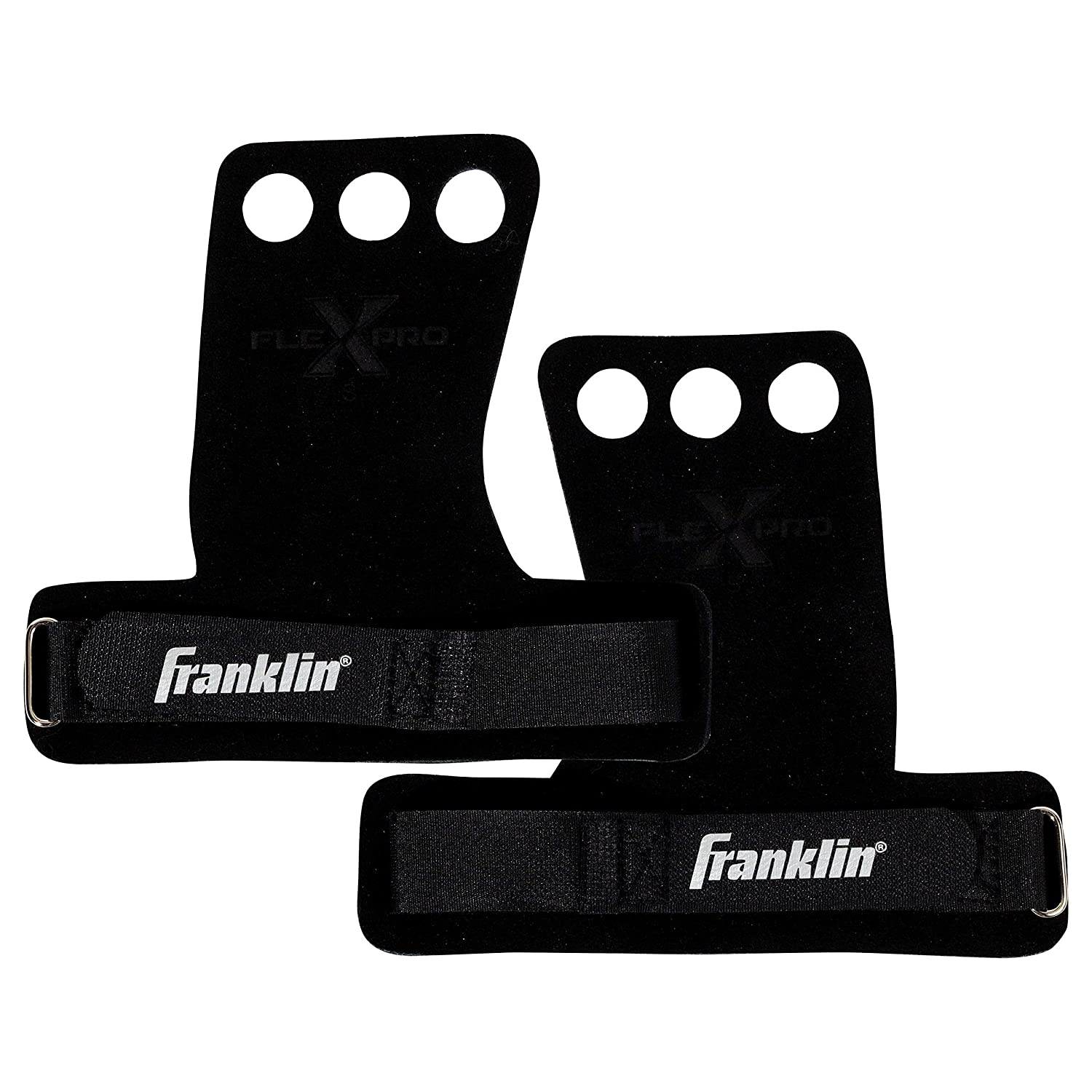 Pull-Ups Franklin Sports 2 Hole Leather Hand Grips for Gymnastics Weightlifting Bars Crossfit Youth Hand Protection for Workouts Medium