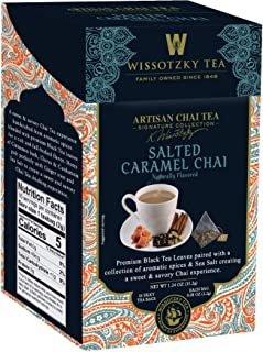 Wissotzky Tea Signature Collection, Artisan Chai Tea, Salted Caramel Chai, 16Count, (Pack of 6)