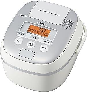 タイガー魔法瓶(TIGER) 炊飯器 5.5合 IH 土鍋コーティング 時短早炊き機能 ホワイト 炊きたて JPE-A100-W