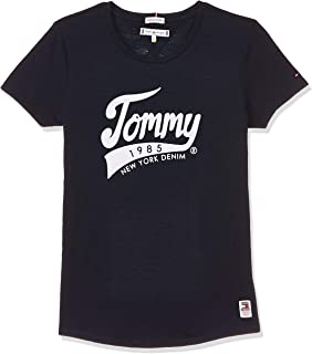 Tommy Hilfiger Girl's 1985 Graphic Short Sleeves T-Shirt, Blue