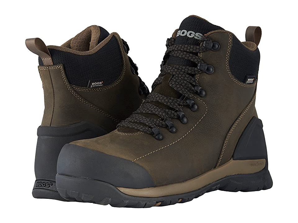 Bogs Foundation Leather WP Mid Comp Toe (Brown) Men