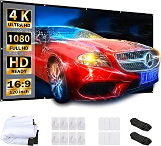 VANKYO Projector Screen 120 Inches 16:9 Projector Screen