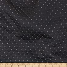 TELIO Black Star Quilted Knit Fabric by The Yard