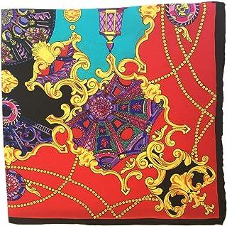 6cb720e02b Silk Run –Foulard carré en 100% soie (55cmx55cm) à imprimé motif '