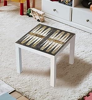 MyMaxxi Film autocollant pour meubles - Backgammon - Pour table laquée IKEA - 55 x 55 cm - Pour chambre d'enfant, table de...