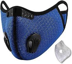 غطاء قناع الوجه الرياضي القابل لإعادة الاستخدام مع فلتر كربون صمام تهوية لركوب الدراجات والجري في الهواء الطلق