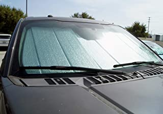 TuningPros CFS-094-S Custom Fit Fold Up Thermal Shade Car Windshield Protector, Sunshade Visor Sun Shade in Silver & Grey 1-pc Set Compatible With 2010-2019 Ram 2500