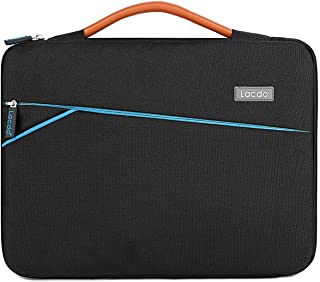 Lacdo 360° Protective Laptop Sleeve Case Briefcase Compatible 13 Inch MacBook Air | MacBook Pro Retina 2012-2015 | Surface Book | 12.9 Inch iPad Pro, Dell HP ASUS Acer Chromebook Tablet Bag, Black