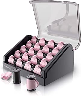 Remington H9000 Pearl Ceramic Heated Clip Hair Rollers, 1-1 ¼ Inch, Pink