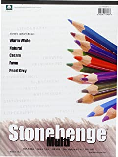 Stonehenge L21-STP250WH912 9 in. x 12 in. Versatile Artist Papers Pad - 15 Sheets of White