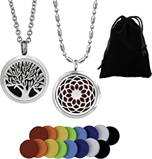 stainless steel essential oil necklace