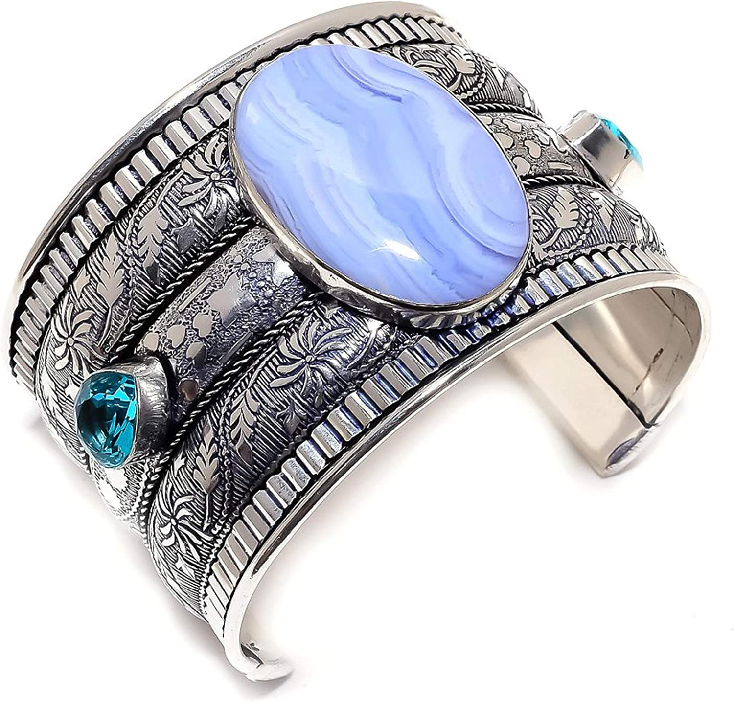 LARA GEMS STONES AND OFFicial store Limited price sale JEWELLERS Blue 925 Lace Topaz Agate S