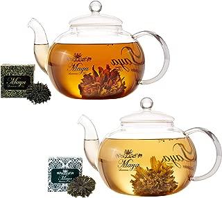MAYA LUXURIOUS TEA Blooming Black & Green, Pack of 12