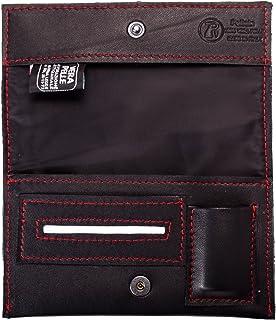 Pellein - Portatabacco in vera pelle Rosso Hero - Astuccio porta tabacco, porta filtri, porta cartine e porta accendino. H...