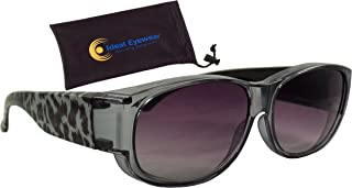 Animal Print Fit Over Sunglasses Wear Over Prescription Glasses - Over Eyeglasses - Light and Comfortable - Case Included