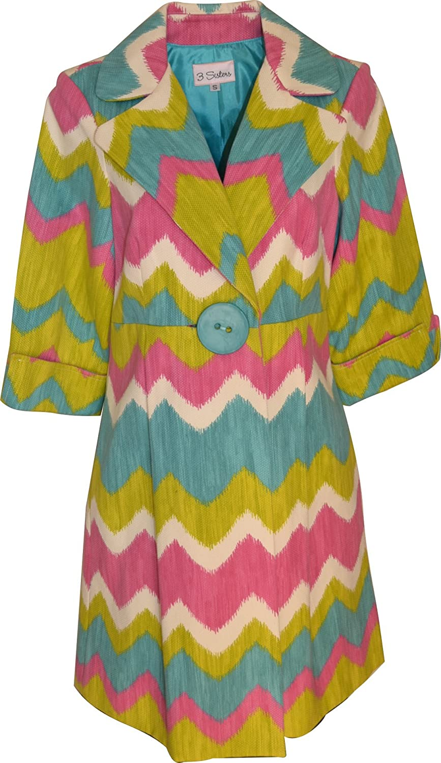 3 Sisters Summer San Antonio Mall Jacket Fitted Long Bl Sale special price Single Dressy Coat Button