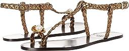 Sonia Rykiel - Laminated Sheepskin Flat Pearl Toe Sandal