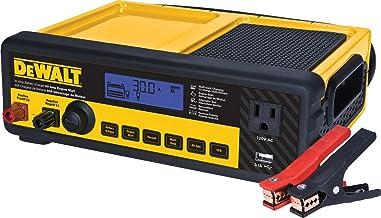 DEWALT DXAEC80 30 Amp Bench Battery Charger: 80 Amp Engine Start, 2 Amp Maintainer, 120V AC Outlet, 3.1A USB Port, Battery...