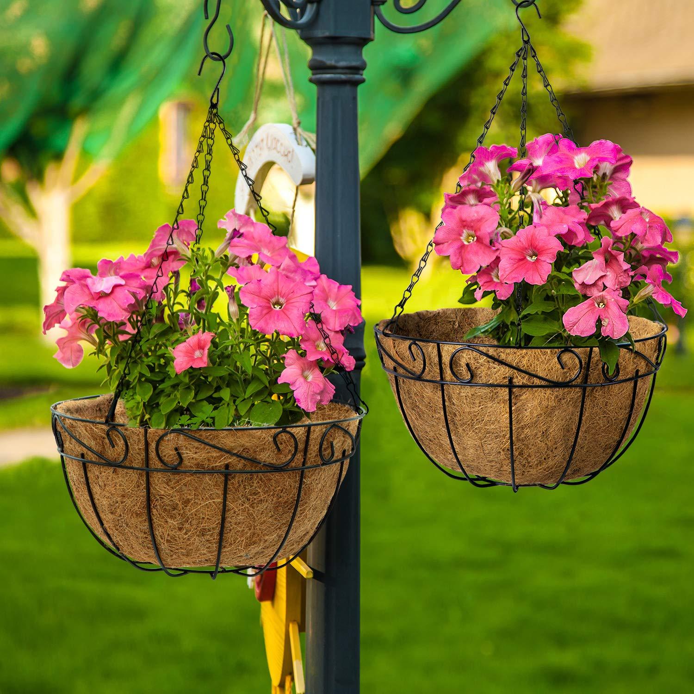 Zihui Garden Hanging Basket Coco Liner Doublures en Fibre De Coco Naturelle Hydratantes Et Respirantes pour Paniers Suspendus /À Fleurs Auges Plantes en Pot De Jardin Jardini/ères Jardini/ères