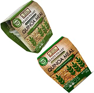 Earthly Grains Quinoa Ready to Eat MEAL - NON SPICY variety pack - 8 oz servings 12 of each 24 count Mega bundle Spork included