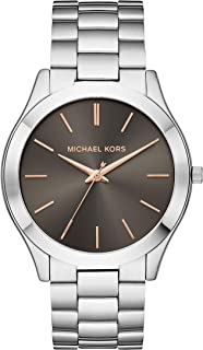 Men's Slim Runway Quartz Stainless-Steel Strap, Silver, 22 Casual Watch (Model: MK8624)