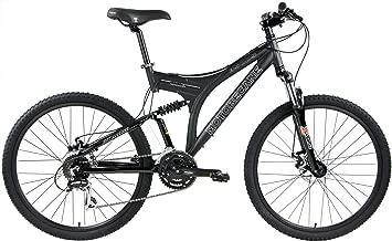 Motobecane 2018 350 DS Dual Full Suspension Mountain Bike 24 Speed Suntour Shock