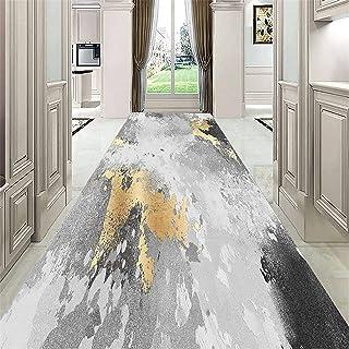 TONGQU Tapis de Passage Antidérapant, Moderne Design Lavable Polyester Long Tapis De Couloir Au Mètre pour Salon Chambre C...