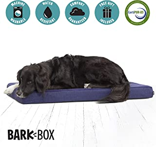 BarkBox Memory Foam Dog Bed Multiple Sizes/Colors; Plush Orthopedic Joint-Relief, Machine Washable Cover; Waterproof Lining; Includes Squeaker Toy