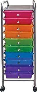 عربة تنظيم الملفات ذات 3 أدراج من فيرتيفليكس، 68.58 × 39.37 × 33.02 سم، متعددة الألوان (34081) 10 Drawers